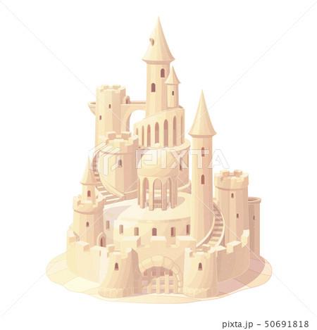 vector fantasy castle sand, sandcastle 50691818