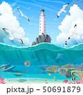 vector cartoon Lighthouse sea clipart 50691879