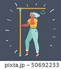 Woman in public transportation. 50692233