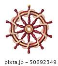vector boat rope handwheel, ship wheel helm 50692349