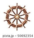 vector boat rope handwheel, ship wheel helm 50692354