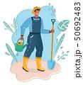 Farmer with showel 50692483