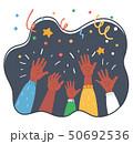 Cheers! Group of people cheering. 50692536