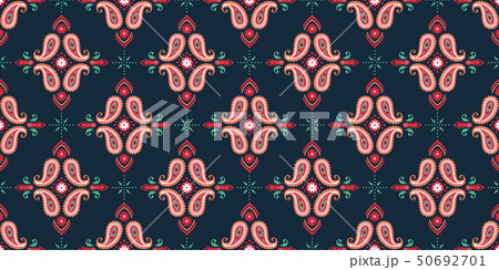 Seamless pattern based on ornament paisley Bandana Print. Vector ornament paisley Bandana Print 50692701