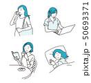 女性 ビジネスウーマン 仕事のイラスト 50693371