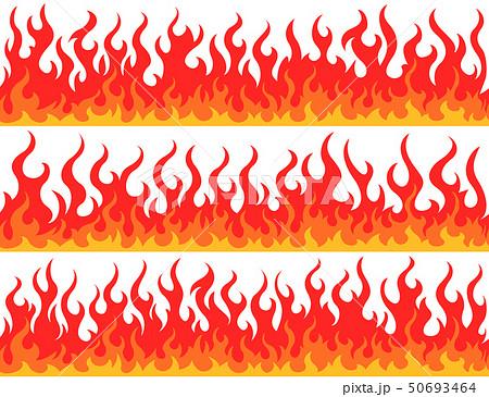 Fire flame frame borders 50693464