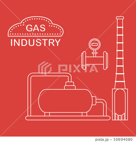 Gas processing plant Industrial gas meter. 50694080