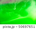 Green acrylic clouds under water, abstract blurred 50697651