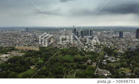 Aerial view of Frankfurt am Main cityscape, Germany 50698751