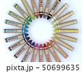 CG 3D イラスト 立体 デザイン 文房具 画材 絵 描く クレヨン カラフル 24色 お絵かき 50699635