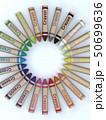 CG 3D イラスト 立体 デザイン 文房具 画材 絵 描く クレヨン カラフル 24色 お絵かき 50699636