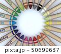 CG 3D イラスト 立体 デザイン 文房具 画材 絵 描く クレヨン カラフル 24色 お絵かき 50699637