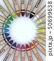 CG 3D イラスト 立体 デザイン 文房具 画材 絵 描く クレヨン カラフル 24色 お絵かき 50699638