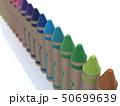 CG 3D イラスト 立体 デザイン 文房具 画材 絵 描く クレヨン カラフル 24色 お絵かき 50699639