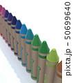 CG 3D イラスト 立体 デザイン 文房具 画材 絵 描く クレヨン カラフル 24色 お絵かき 50699640