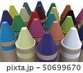 CG 3D イラスト 立体 デザイン 文房具 画材 絵 描く クレヨン カラフル 24色 お絵かき 50699670