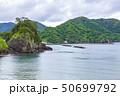 伊豆半島ジオパーク、弁天島の海底火山噴火の痕跡、静岡県松崎町にて 50699792