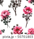 Watercolor chinese rose pattern 50701803