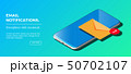 Notification of New Email on Your Mobile Phone or Smartphone. Mail icon. 50702107