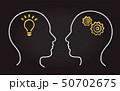 論理と直感の黒板イメージ 50702675