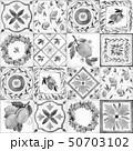 Watercolor ornament square vector pattern 50703102