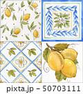 Watercolor ornament square vector pattern 50703111