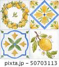 Watercolor ornament square vector pattern 50703113