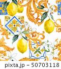 Watercolor lemon seamless vector pattern 50703118