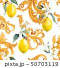 Watercolor lemon seamless vector pattern 50703119