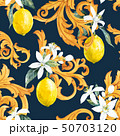 Watercolor lemon seamless vector pattern 50703120