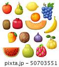 Cartoon fruits set isolated on white background 50703551