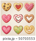 Valentine day cookie set. Heart shaped pastry 50703553