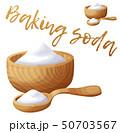 Baking soda. Cartoon vector icon isolated on white background 50703567