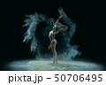 Slim girl in lingerie in dust profile shot 50706495