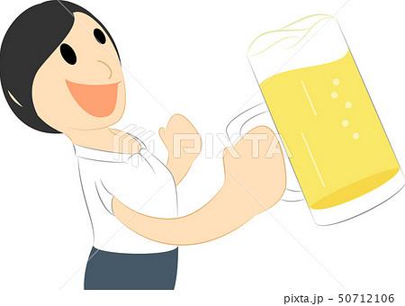 ビールで乾杯する女性 50712106