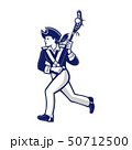 Female Patriot Lacrosse Player Mascot 50712500