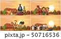 Set of desert scene 50716536