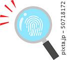 虫眼鏡で拡大した指紋 50718172