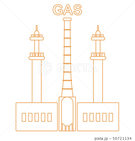 Gas processing plant Industrial theme. 50721134