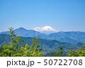 高尾山 山頂 大見晴園地から眺望する富士山 50722708