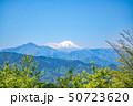 高尾山 山頂 大見晴園地から眺望する富士山 50723620