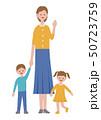 お母さんと子供のイラスト 50723759