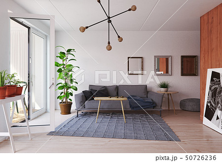 modern  living interior design. 50726236