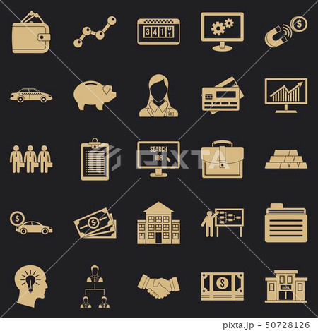 Working week icons set, simple style 50728126