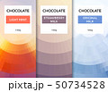 Chocolate bar packaging template design. Chocolate branding product pattern. Vector luxury design 50734528