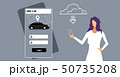 woman downloading online mobile app rent car sharing concept transportation carsharing service girl 50735208