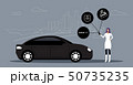 woman using online mobile app rent car sharing concept transportation carsharing service girl 50735235