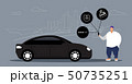obese man using online mobile app rent car sharing concept transportation carsharing service 50735251