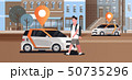 cars with location pin on road online ordering taxi car sharing concept mobile transportation man 50735296