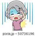 ワキガ 女性 悩むのイラスト 50736196